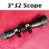 JA1003s 3*32 telescopic sight red/green dot reflex sight gunsight rifle scope for night vision and outdoor crossbow hunting