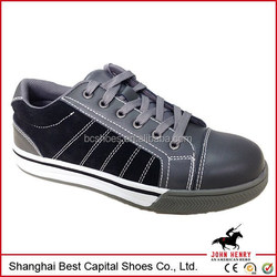 New fashion footwear safety shoes// suede leather high quality safty shoes