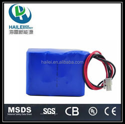 High quality 18650-3S3P 5Ah rechargeable 12V lithium battery pack