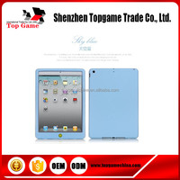 Colorful &Slim silicone case for ipad 2/3/4 case with protective film
