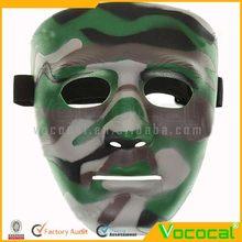 halloween cosplay traje de fiesta de disfraces de plástico máscara de camuflaje