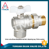 long neck brass ball valve brass 600 wog polishing with forged gas valve and for water mini PTFE with o-ring in TMOK