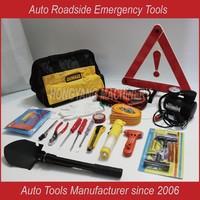 Car Pickup Vehicle Road Roadside Accident Emergency DOT Triangle