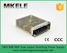 ac to dc new series 50w dual output ned-50b switching power supply 5V24V 4A1.4A smps with wide range input