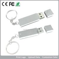 New personalized rectangle usb pendrive 2gb, metal USB 2.0 metal stick