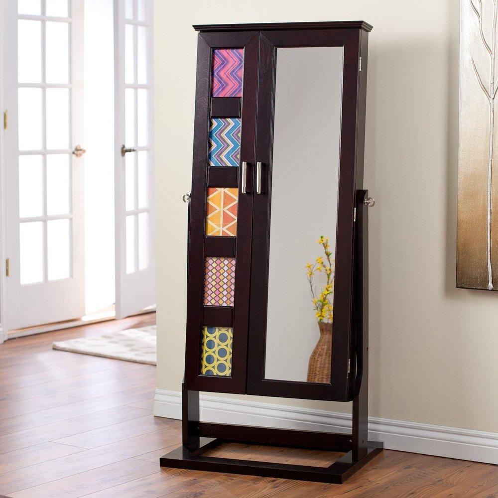 Mobili soggiorno free standing specchio gioielli armoire con ...