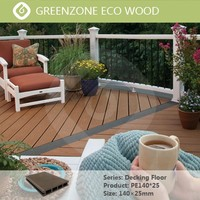 Natural wood texture Easy installation wood composite floor fireproof decking