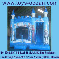 Good quality frozen kids inflatable bounce with slide ,Frozen bouncy slide inflatable bounce slide jumping house