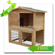 2 story wooden cage with ladder custom rabbit hutch hot sales