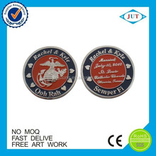 Promotional gift souvenir silver coins custom challenge coin