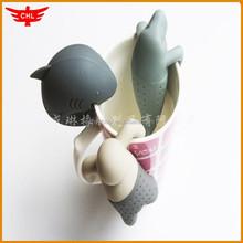 lovely animal design Mr tea infuser silicone