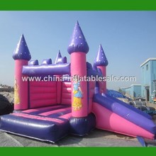 Inflatable Bouncers Games Pink Princess inflatable jumping castle H1-2634