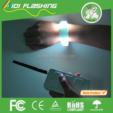 good quality for party gifts birthday use flashing led silicone bracelet