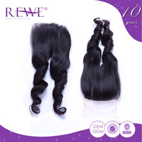 Make To Order Natural Color Middle Glory True Afro Silk Lace Closure Hairpieces