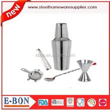 high grade stainless steel luxury cocktail shaker bar set