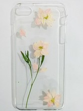 Fashion Dry pressed cover case natural real flower cell phone case for iphone 6 plus