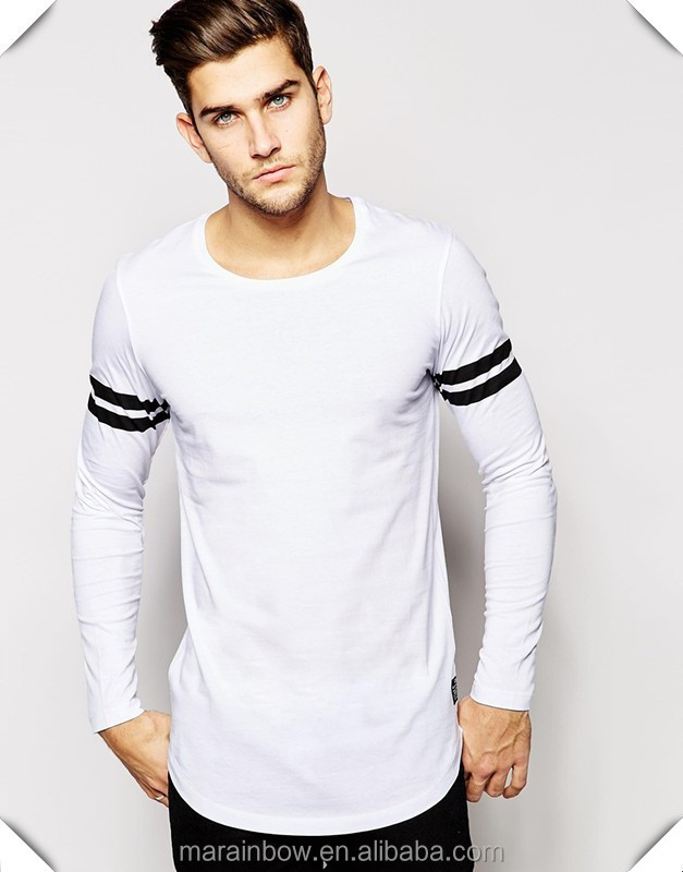 wholesale cheap cotton white plain mens long sleeve t