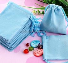 Light blue Velvet pouch