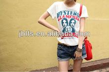 2013 women's summer popular short-sleeve o-neck T-shirt