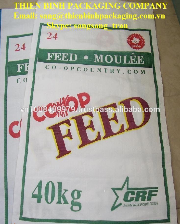 Pp tissés sac de l'alimentation animale au viet nam