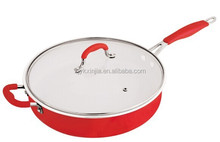 2015 Very popular red color aliminum fry pan xinjia 3073