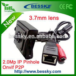 1080p p2p onvif 3.7mm lens mini pinhole ip camera hi quality microphone for cctv manufacture