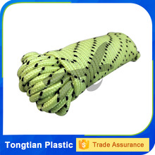 colorful braided polyester rope for mountain climbing