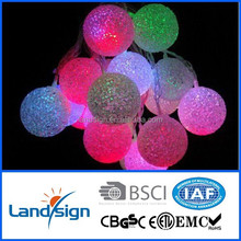 Zhejiang product solar christmas ball light Cixi Landsign XLTD-137 string light decorative led unique outdoor christmas lights