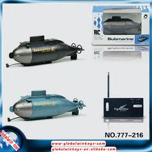 juguete inalámbrica submarino rc mini juguetes en barco agua nueva productos 6channel gw-t777-216 en venta