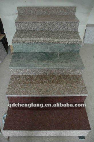 Escaleras de granito/escalera de granito/granito pasos/piedra del bordillo del granito