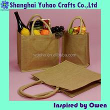 Custom size jute grocery shopping bags jute tote bags