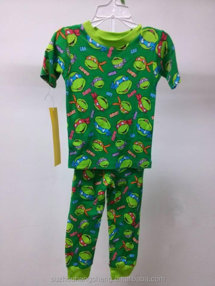Kids pajama set 100 cotton printed rib jersey fabric for Children s jersey fabric