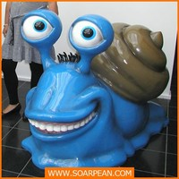 Large decorative resin Snail Statue for Decoration
