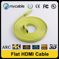 flat hdmi cable vw-1 for full hd 3d blu ray ps3 xbox hdmi 1.4 for lcd plasma 1920x1080p