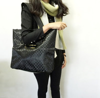 fashion ladies black tote bag
