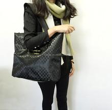 fashion ladies black tote bag
