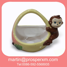 Monkey 3D easter baskets ceramic