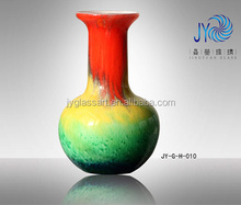 Arte vaso de vidro