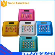 electronic 8 digit desktop pill shaped mini calculator wholesale