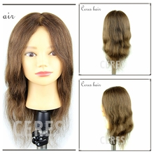 Premium 100% Real Human Hair Hairdressing Practice training head female mannequin head