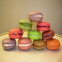 High quality artificial mini macaron squishy fake food for shop display