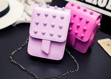 Z70657M Cute fashion handbags high-grade PU Leather Mini Bag rivets Wallet women's shoulder bag