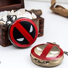 Hot sell Superman watch wholesale pocket watch with pocket watch chain