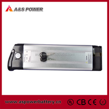 Lithium ion electric moped battery 24V 10Ah silver fish type