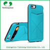 Free sample custom TPU+PC+PU multi color universal cell phone back case cover with card slot for Apple iPhone 6