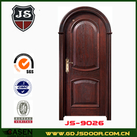 Black walnut solid wood hotel interior door