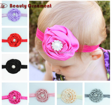 Foreign trade new Europe and the United States children's head with hair ribbon flowers diamond baby's hair