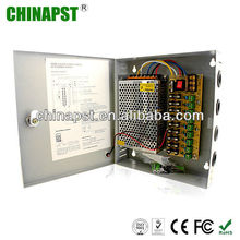 10A 9 Channels 100-240V AC to 12V DC metal box universal power supply PST-CA06