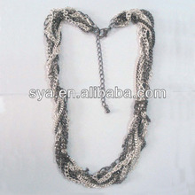 Sya layer metal chains long style bar jewelry ecig necklace lanyard