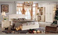 #682 french classica wood carving furniture luxury bedroom set
